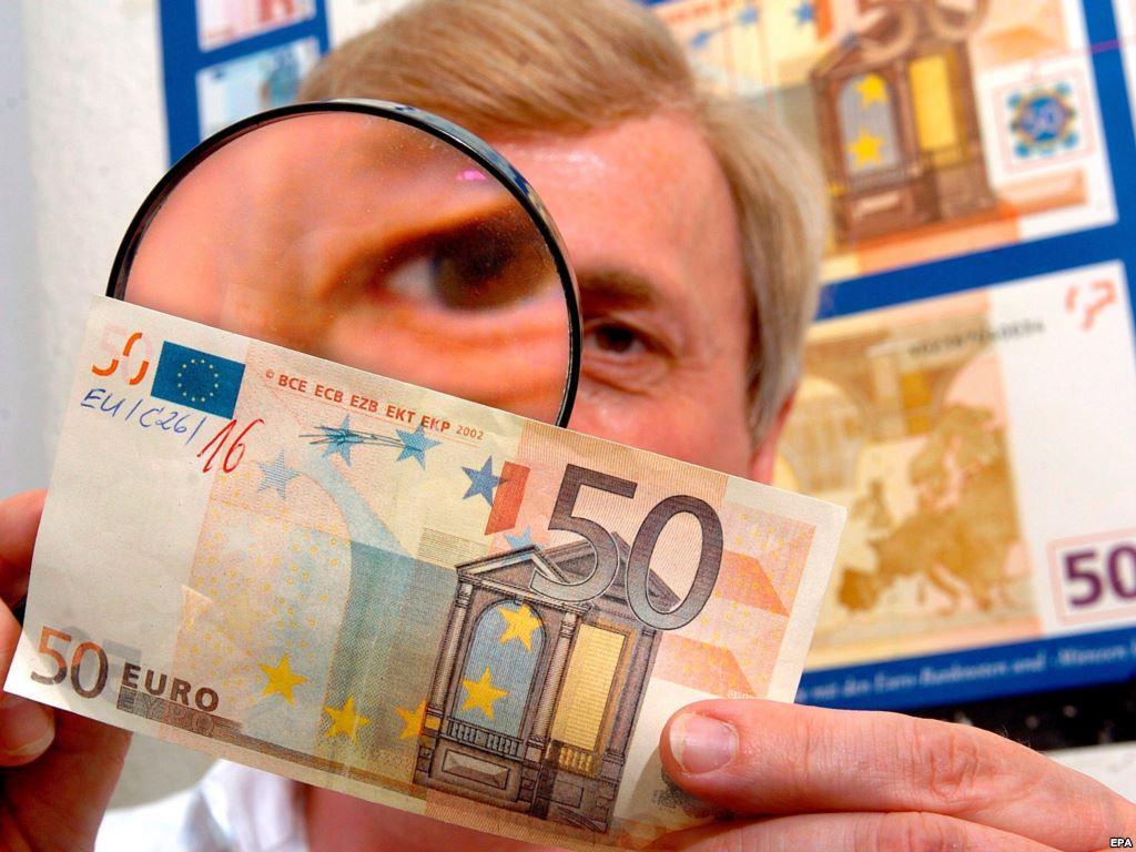 Фальшиві євро ознаки